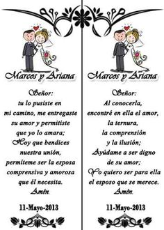 oraciones para bodas - Google Search