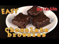Easy Chocolate Brownies Recipe ! - YouTube