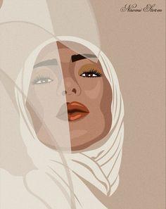 Girl Cartoon, Cartoon Art, Doodle On Photo, Beautiful Girl Drawing, Islamic Cartoon, Hijab Cartoon, Abstract Faces, Woman Illustration, Woman Drawing