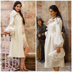 Купить Пальто Белое (продано) - белый, однотонный, пальто женское, пальто валяное, пальто на подкладе