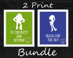 Bundle Buzz & Woody Toy Story Silhouette with by LoveFamilyHome