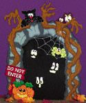 "Haunted Train Tunnel Woodcraft Pattern This ""Haunted Train Tunnel"" is sure to attact attention as a scary Halloween yard display. Scary Halloween Yard, Halloween Yard Displays, Halloween Train, Creepy Halloween Decorations, Outdoor Halloween, Halloween Crafts, Halloween Costumes, Wood Craft Patterns, Wooden Pattern"