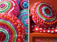 Handwerkjuffie: februari 2014 banju of bohemian kussen met mandala