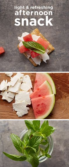 Give your Triscuit a watermelon, feta cheese and chopped mint facelift. Just be sure to ask for the melofetamintscuit. Oh, that's not a thing? It is now.