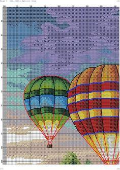 Zz Simple Cross Stitch, Cross Stitch Baby, Cross Stitch Kits, Cross Stitch Patterns, Ribbon Embroidery, Cross Stitch Embroidery, Embroidery Patterns, Balloon Glow, Balloons