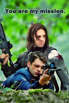 Winter Soldier (Just add a few sparkles and a pink heart and it will be a cheezie valentine day card