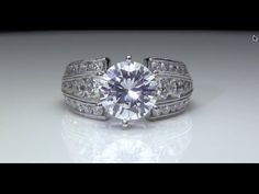 #3CaratCenterDiamond #5CaratDiamondEngagementRing #LargeDiamonds #HugeDiamonds #EnormousDiamonds This engagement ring can accommodate any size and any shape center diamond or #ColorGemstone, but should be at least #2Carats  http://www.bloomingbeautyring.com/new-ring-designs/