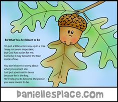 Acorn Picture and Poem Craft from www.daniellesplace.com