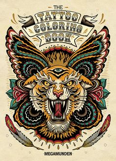 Tattoo Coloring Book by Megamunden  Laurence King ISBN 9781780670119 $17.96
