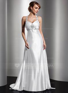 Evening Dresses - $141.19 - A-Line/Princess Sweetheart Watteau Train Charmeuse Evening Dress With Ruffle Beading (017014580) http://jjshouse.com/A-Line-Princess-Sweetheart-Watteau-Train-Charmeuse-Evening-Dress-With-Ruffle-Beading-017014580-g14580