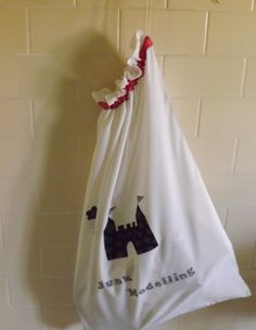 A handy bag for keeping recycling bits for crafts.