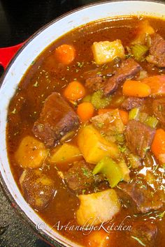 One of my favourite Beef Stew recipes, this Irish Stew is flavoured with Guinness beer and red wine!