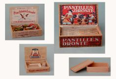 MINI DESIGN: Old boxes to make including printables.  Not in English but with good pics