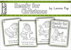 FREE Emergent Reader - Ready for Christmas  This is a cute fold-and-staple emergent reader about Santa getting ready for Christmas.  If you like this resource, you may like my other Readers and Flip Books available here!