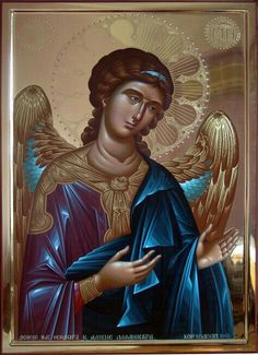 Archangel Raphael, Archangel Gabriel, Byzantine Icons, Byzantine Art, Religious Paintings, Religious Art, Angel Protector, Faith Of Our Fathers, Russian Icons