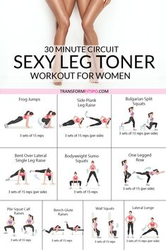 Leg Workout At Home, Fitness Workout For Women, Daily Home Workout, At Home Workouts, Workouts For Legs, Lower Body Workouts, Extreme Workouts, Fitness Tips, Leg Toner Workout