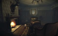 Image result for fireplace game lighting