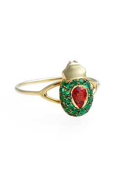 Daniela Villegas 'Maat' Red Sapphire & Emerald Ring available at #Nordstrom