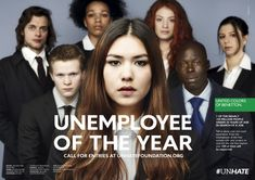 7 of the nearly 100 million people under 30 years of age in search of a job. http://unhate.benetton.com/unemployee-of-the-year/the-film/