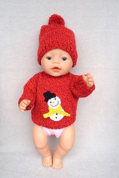 Puppenpullover und -mütze von Marie & Mariechen auf DaWanda.com