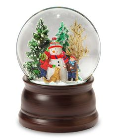 Another great find on #zulily! Snowman & Friends Snow Globe #zulilyfinds