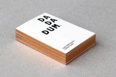 copper edging. // Dadadum branding designed by Demian Conrad Design