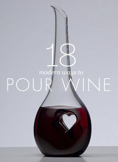 Check out these modern wine decanters.