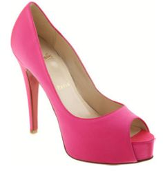 Leighton Meester Christian Louboutin Hyper Prive in Shocking Pink