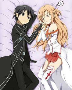 . [ Sword Art Online ] - Pic by: @_animechannel_ - Characters: Asuna and Kirito…