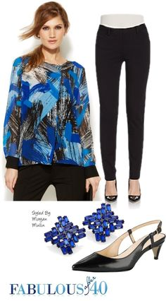 Leggings with a geometric top