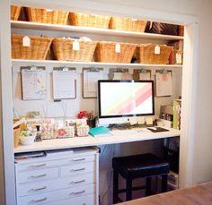 Un bureau dans le placard | Blog Déco | MYDECOLAB