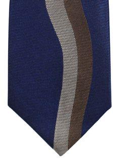ebb7faf005fd Gene Meyer Tie Navy Taupe Gray Design - Tie Deals #cooltie #genemeyer Cool  Ties