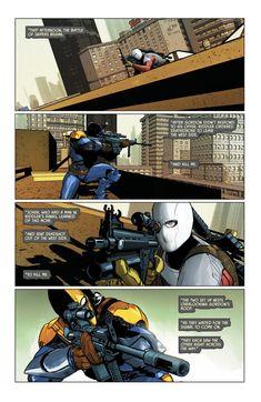 Deathstroke vs Deadshot in Batman vol 3 #28 | Art by Mikel Janín