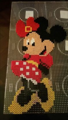 Minnie Mouse perler beads by Alexandre Lehmann