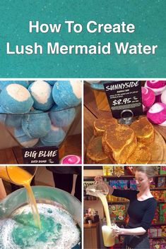 Click on this pin if you want to learn how to create DIY Lush mermaid water using Lush bath bombs and Lush Bubble Bars. Make Lush mermaid water today!