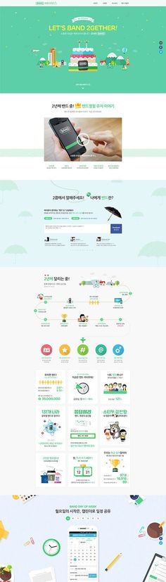 BAND App 2th Anniversary - Promotion by KwangYoung Han, via Behance:
