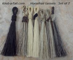 Perfection #horsehair tassels perfect for horsehair by Knotatail http://knot-a-tail.com/catalog/16