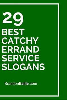 One great way to gain more errand service clients is to have a slogan that depicts what you are all about. Slogans are fun because you can include a little dose of your personality in Business Slogans, Business Names, Catchy Business Name Ideas, Errand Business, Catchy Slogans, Senior Services, Virtual Assistant, Business Planning, Finance