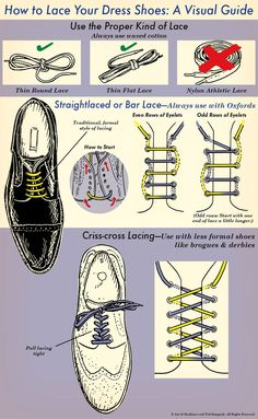 How to Lace Your Dress Shoes: An Illustrated Guide
