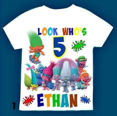 Trolls Birthday boy  Shirt Personalized with by FantasyKidsParty