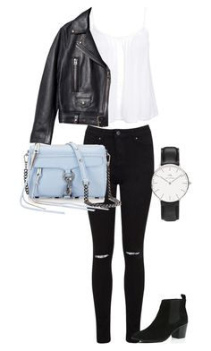 """""""Untitled #42"""" by kaylynewolfenden ❤ liked on Polyvore featuring Miss Selfridge, New Look, River Island, Acne Studios and Daniel Wellington"""