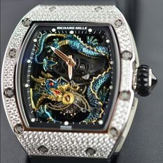 The Richard_Mille RM057 Jackie Chan Tourbillon Blue Dragon