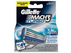 Gillette Shave Care Mach3 Turbo - Cartucho de Barbear 4 Peças com as melhores condições você encontra no Magazine Slgfmegatelc. Confira!