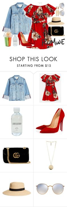 """""""La fille de la piscine."""" by carla-limitededition ❤ liked on Polyvore featuring Frame, Lord & Berry, Christian Louboutin, Gucci, Givenchy, Ray-Ban and Charlotte Tilbury"""