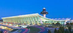 1988 AIA National Twenty-five Year Award Recipient- Dulles International Airport Terminal Building in Chantilly, Virginia; designed by Eero Saarinen and Associates