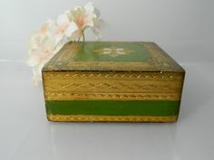 Vintage Florentine Box Gold Trinket Box by 3sisterssmalls on Etsy, $17.99