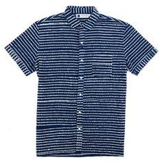 Industry of All Nations Madras Batik Stripe Shirt