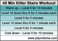 45 minute killer stairs workout