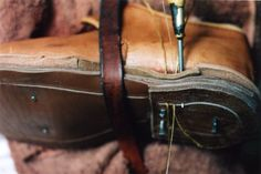 Sewing the heels. My shoes are welted throughout.