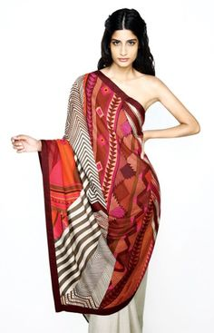 Hermes creates a limited edition sari collection for the Indian luxury market. At $6000-8000 a pop, only Bollywood stars could afford it.  No self-respecting bourgeois Indian woman would go without a blouse!